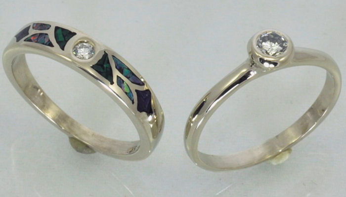 White gold Wedding Ring Set from James Hardwick